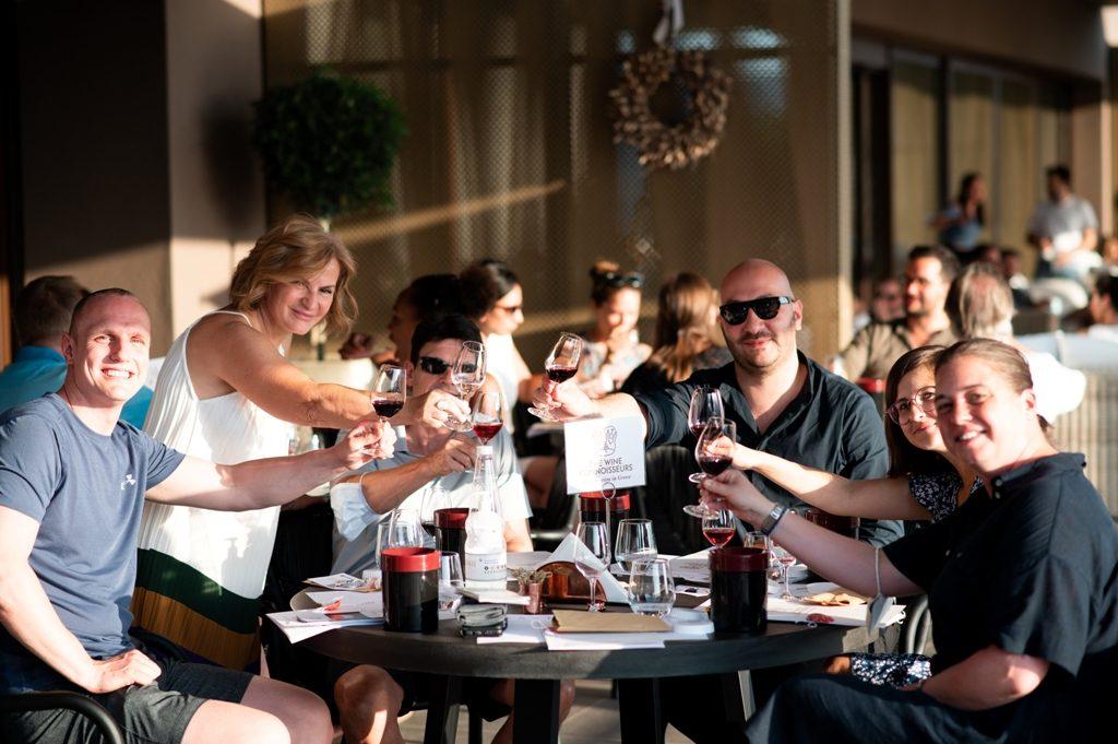 Mixing wine & culture at a prestigious event