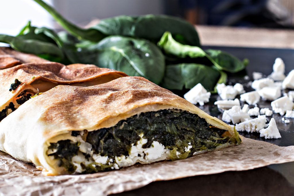 SPINACH PIE WITH OUZO & GREEK CHEESE FETA