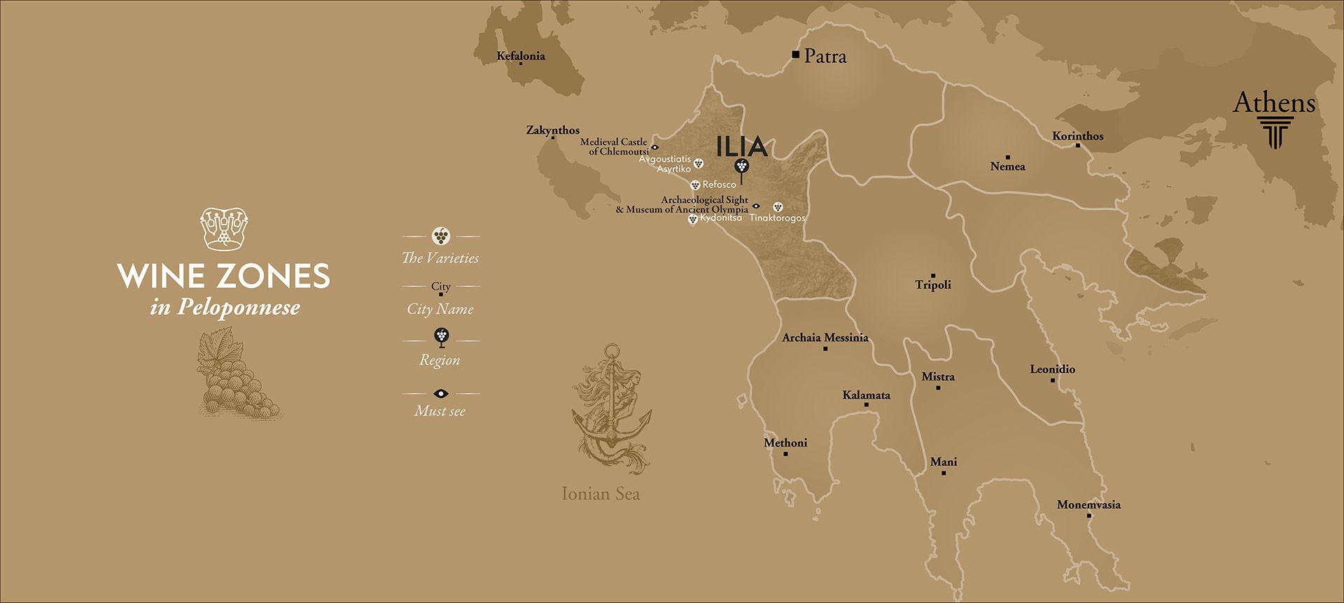 Ancient Olympia wine tours Greece, luxury wine tourism, Peloponnese wine tour, private wine tour