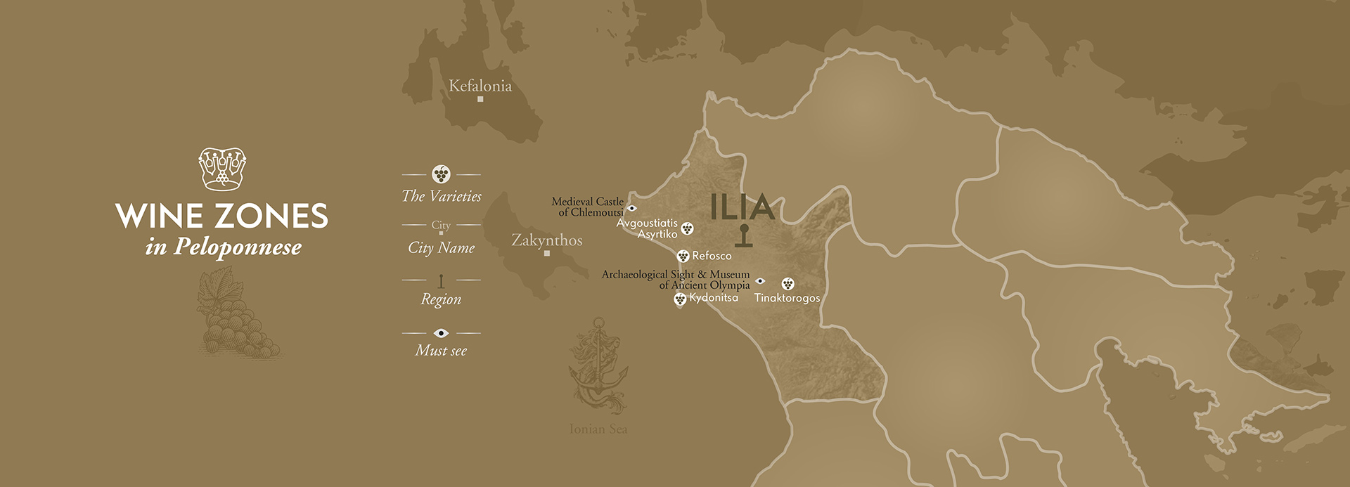 Ilia Wineries Map by The Wine Connoisseurs
