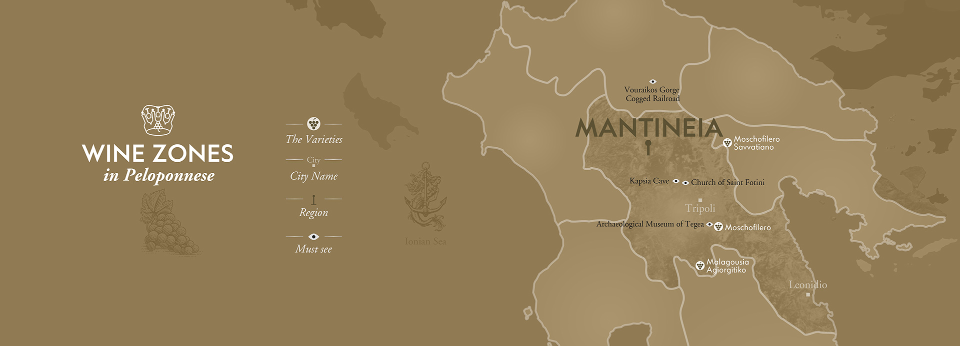 Mantineia Wineries Map by The Wine Connoisseurs