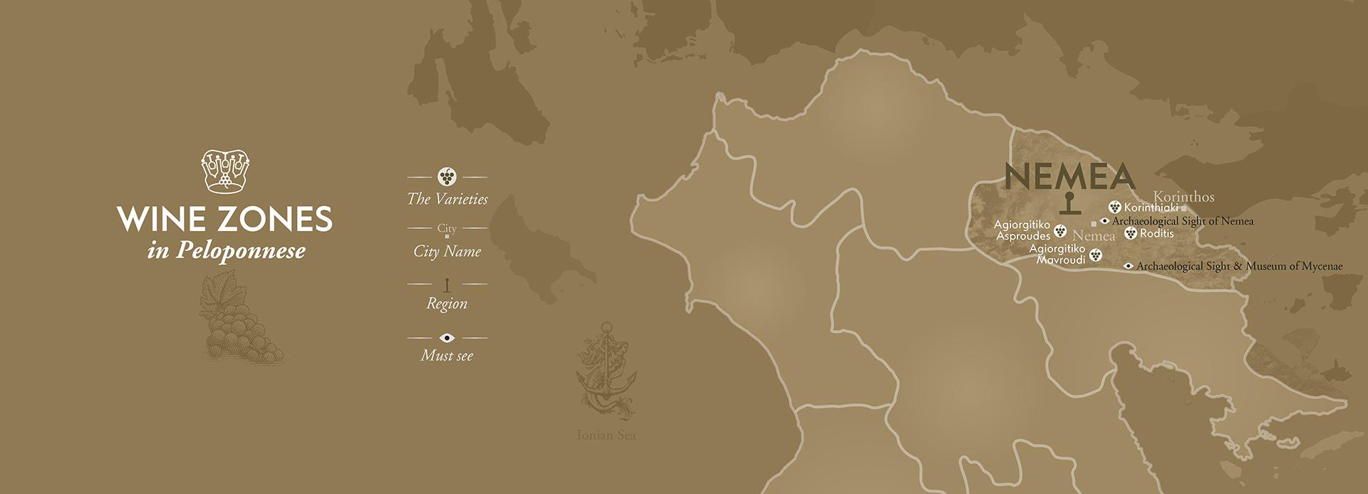 Nemea Wineries Map by The Wine Connoisseurs
